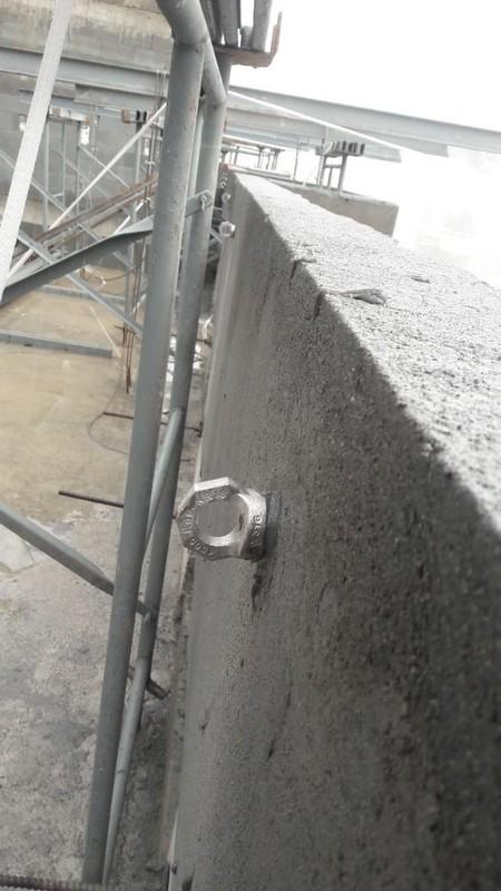 Instalação de pontos de ancoragem